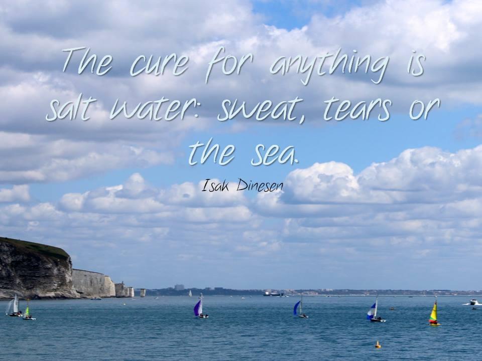 Nuo visko išgydo sūrus vanduo: prakaitas, ašaros arba jūra