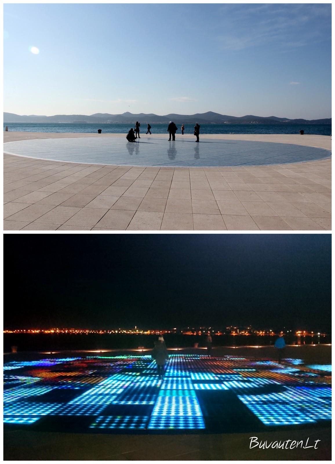 Saulės pasveikinimas – moderni instaliacija Zadaro pakrantėje